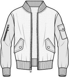 varsity jacket women technical drawing - Cerca con Google