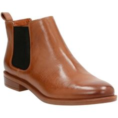 Clarks® 'Taylor Shine' Chelsea Boot (Women) available at Tan Chelsea Boots, Chelsea Boots Outfit, Tan Leather Boots, Shearling Boots, Tan Boots, Real Leather, Beatle Boots, Short Heel Boots, Tan Heels