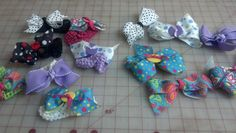 Hair bows (barrettes and bands) made for granddaughters.