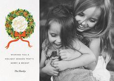 Wintergreen Wreath (Square Photo) - Paperless Post