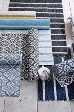 Ellos Home Plastmatta Tingsryd 150x250 cm Blå/vit, Turkosgrön/vit - Plastmattor | Ellos Mobile