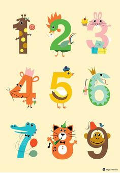 tallplakat Alphabet Letter Crafts, Alphabet And Numbers, Drawing For Kids, Art For Kids, Crafts For Kids, Infant Activities, Craft Activities, Number Crafts, Numbers For Kids
