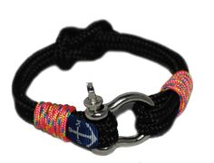 Black and Pink Nautical Bracelet by Bran Marion