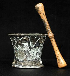 This mortar and pestle, found in an underwater wreck thought to be Blackbeard's ship Queen Anne's Revenge, probably was used to crush medicine or spices, archaeologists said in March 2009.
