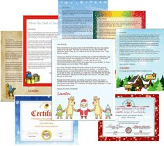 Santa letter Templates Complete package - includes 6 letter templates, 2 Nice List designs, 3 envelope designs, and 3 variations of text to use in your letters. Requires Microsoft Word 97 or newer.  #Santaletters #christmas