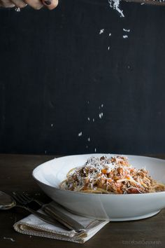 Bolognese Sauce - perfect comfort food from Taste Love  Nourish