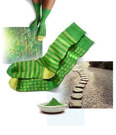 Kobe Green socks | Light drawer | Oybō: untuned socks for smart feet