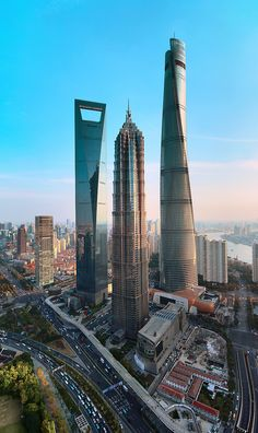 """See 773 photos and 24 tips from 3274 visitors to 上海中心大厦 Shanghai Tower. """"The second tallest building in the World, with of high tech architecture. New Classical Architecture, Architecture Photo, Amazing Architecture, Unique Buildings, Amazing Buildings, Futuristic City, Futuristic Architecture, Shanghai Tower, Dubai Miracle Garden"""