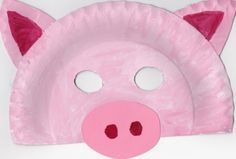 Paper Plate Pig Mask                                                                                                                                                                                 More