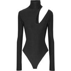 Alix Houston cutout stretch-jersey turtleneck bodysuit