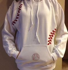 Baseball jacket by FleurdeBling on Etsy, $34.95... I totally need this for those cold nights at the field.