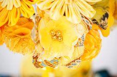 Fabric wedding bouquets