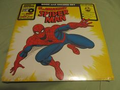 Vintage 1977 the Amazing Spider Man Book and Record Set (New Sealed!)