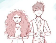 jarida comic  | ... for this image include: brave, cartoons, draw, jack frost and merida