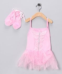 Take a look at this Pink Princess Skirted Leotard & Shoes - Toddler & Girls by Princess Expressions on #zulily today!