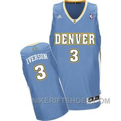 3ca59548909 Allen Iverson Denver Nuggets  3 Revolution 30 Swingman Blue Road Jersey Hot  8psw3