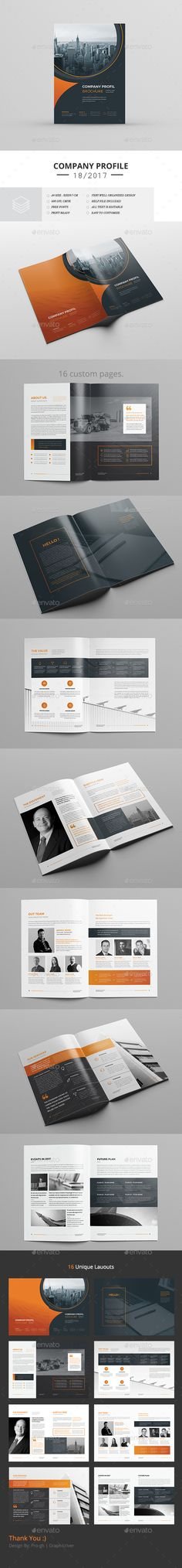 Corporate Brochure — InDesign INDD #infographics #a4 • Available here ➝ https://graphicriver.net/item/corporate-brochure/20610793?ref=pxcr