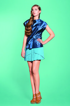 https://www.cityblis.com/6024/item/9396   Turquoise pleated skirt - $65 by Teresa Abrunhosa   Add a pop of colour to your wardrobe with this turquoise blue layered short skirt. Top layer has pockets and bottom layer is pleated.  100% CO   #Skirts