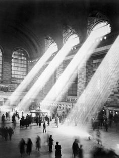 Sunbeams in Grand Central Station Photographic Print at AllPosters.com