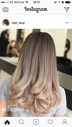 Dry with fan, big thick curls in the end .- Mit Fächer trocknen, große dicke Locken am Ende … – Dry with fan, big thick curls in the end … – End - Balayage Hair Blonde, Brunette Hair, Ombre Hair, Hair Color And Cut, Hair Colour, Hair Highlights, Gorgeous Hair, Hair Looks, Pretty Hairstyles