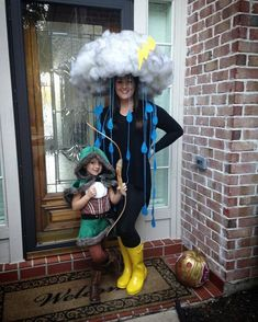 storm cloud and walk stormy the dog! storm cloud and walk stormy the dog! storm cloud and walk stormy the dog! storm cloud and walk stormy the dog! Diy Pirate Costume For Kids, Homemade Halloween Costumes, Creative Halloween Costumes, Diy Costumes, Costumes For Women, Halloween Costume With Dog, Group Halloween, Halloween Halloween, Crazy Hat Day
