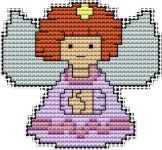 Angels, free cross stitch patterns and charts - www.free-cross-stitch.rucniprace.cz