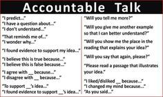 "I created this Accountable Talk poster to hang in my 5th grade classroom. 32"" x 19"" by Jessica Peyton James"