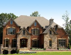 Beautiful combinations of brick and stone create stunning curb appeal. The design features many open areas ideal for a large family and entertaining including the keeping room, great room, covered porches and a terrace.Coffered ceilings, fireplaces and custom moldings are evident throughout the home.A spacious kitchen opens to the angled keeping room and features a large center island and ample counter space.A second floor master suite is complete with a master sitting area complimented with…