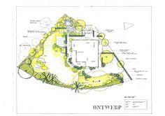 Tuinontwerp van Ton Vissers  www.tontuinen.nl  Aangelegd door Wesseling Tuinen te Haarlem  www.wesselingtuinen.nl Landscape Design, Garden Design, Garden Planning, Open House, Garden Landscaping, Vintage World Maps, Diagram, Grasses, How To Plan