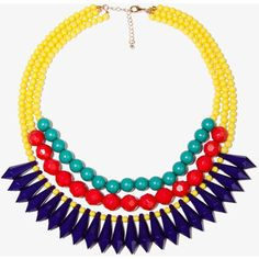 Forever 21 Layered Colorblock Necklace