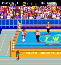 I put quarters in this coin-op game like crazy!!! Mat Mania – The Prowrestling Network, known in Japan as Exciting Hour - The Prowrestling Network (エキサイティング アワー ザ プロレスリング ネットワーク?), or simply either as Mat Mania or Exciting Hour (エキサイティング アワー?), is a 1985 Japanese pro wrestling-themed arcade game developed by Technōs Japan and published by Taito #1980s #arcade