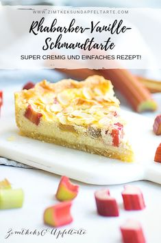 Cremige Rhabarber-Vanille-Schmand-Tarte Incredibly creamy and incredibly tasty: rhubarb-vanilla cream tart. Great cake with rhubarb and sour cream, quickly Easy Cake Recipes, Dessert Recipes, Homemade Desserts, Rhubarb Cake, Gateaux Cake, Fall Desserts, Food Cakes, Yummy Cakes, Sour Cream