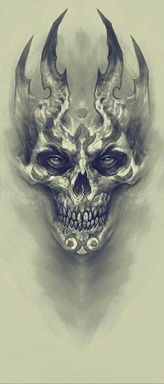 Demon, Kazimirov Dmitriy - Beautiful Skull More - . - Demon, Kazimirov Dmitriy – Beautiful Skull More – - Skull Tattoo Design, Skull Design, Skull Tattoos, Body Art Tattoos, Tattoo Designs, Evil Skull Tattoo, Evil Tattoos, Tattoo Ideas, Key Tattoos