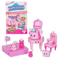 Shopkins Happy Places Princess Puppy Garden Party Welcome Pack Sweet Bunny Chillout Spot and Bonus Tattoo Moose toys