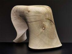 The TONUS Stool from Solid Oak Wood by Dutch designer Aldo Bakker