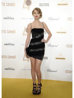 Taylor Swift at Roberto Cavalli's 40th Anniversary Party in 2010