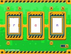 FREE Phonics Spinner for PC - An electronic CVC spinner for the IWB and the game 'Junk or Gem '.