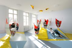 Modern Interior Design of School in Berlin, Germany. More at Founterior.com #modern #interior #design #school #berlin #germany