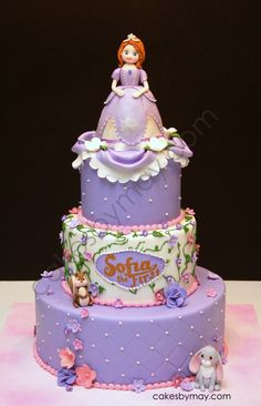 Sofia the First - Love how this cake turned out! Very girly and purple