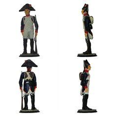 """Fusilero de la infantería de Línea - 1804-1806 (Colección """"La Grande Armée de l'Empereur"""" editada por """"Le Médailler Franklin"""" - 54 mm)"""