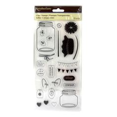 <div><div>This fun clear stamp set is great for scrapbooking, card making, altered art and more....