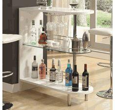 Contemporary White Bar Table - Coaster 101064