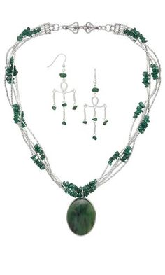 Bracelet And Earrings Jewellery Set To Have A Unique National Style Original Jade Gemstone Necklace Jewellery & Watches