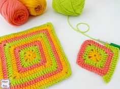Tropical Punch Dishcloth By Fiber Flux/Jennifer Dickerson - Free Crochet Pattern - (ravelry)* ༺✿ƬⱤღ  https://www.pinterest.com/teretegui/✿༻