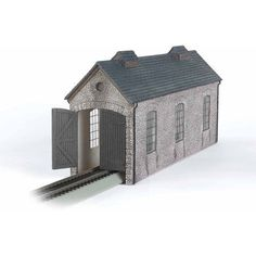 Bachmann Trains Thomas and Friends Engine Shed Resin Building Scenery Item, HO Scale, Multicolor