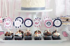 Nautical Party - Vineyard Vines inspired whale party & cupcake toppers from Mirabelle Creations