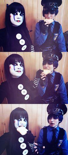 PG vs Puppet, the toast -FNAF cosplay by AlicexLiddell.deviantart.com on @DeviantArt