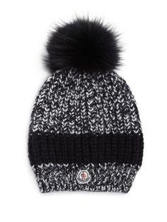 02df9d5345a MONCLER Fur Pom-Pom Knit Hat.  moncler  hat Fur Pom Pom