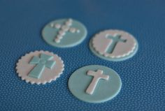 Fondant Baptism Cross Toppers for Decorating by parkersflourpatch