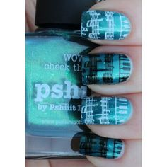 Music Note Manicure and some Bling! (Picture Polish, Born Pretty... ❤ liked on Polyvore featuring beauty products
